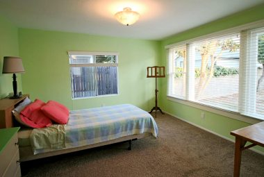 Master bedroom suite overlooking the backyard, with large closet and attached private full bathroom!