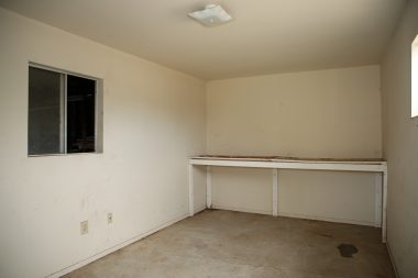 Bonus room off the back of the garage. Could be used for as an office, a work out room, or just extra storage!