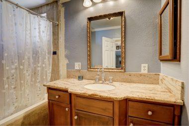 Main house remodeled bathroom.
