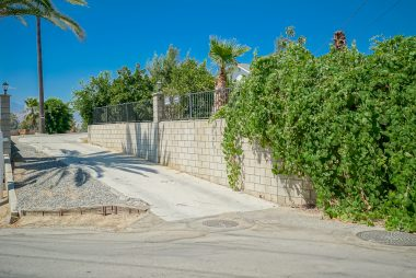 View of driveway from Rubidoux Avenue.