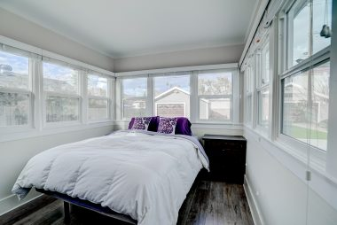 Back bedroom with lots of natural light also, and all double pane windows.