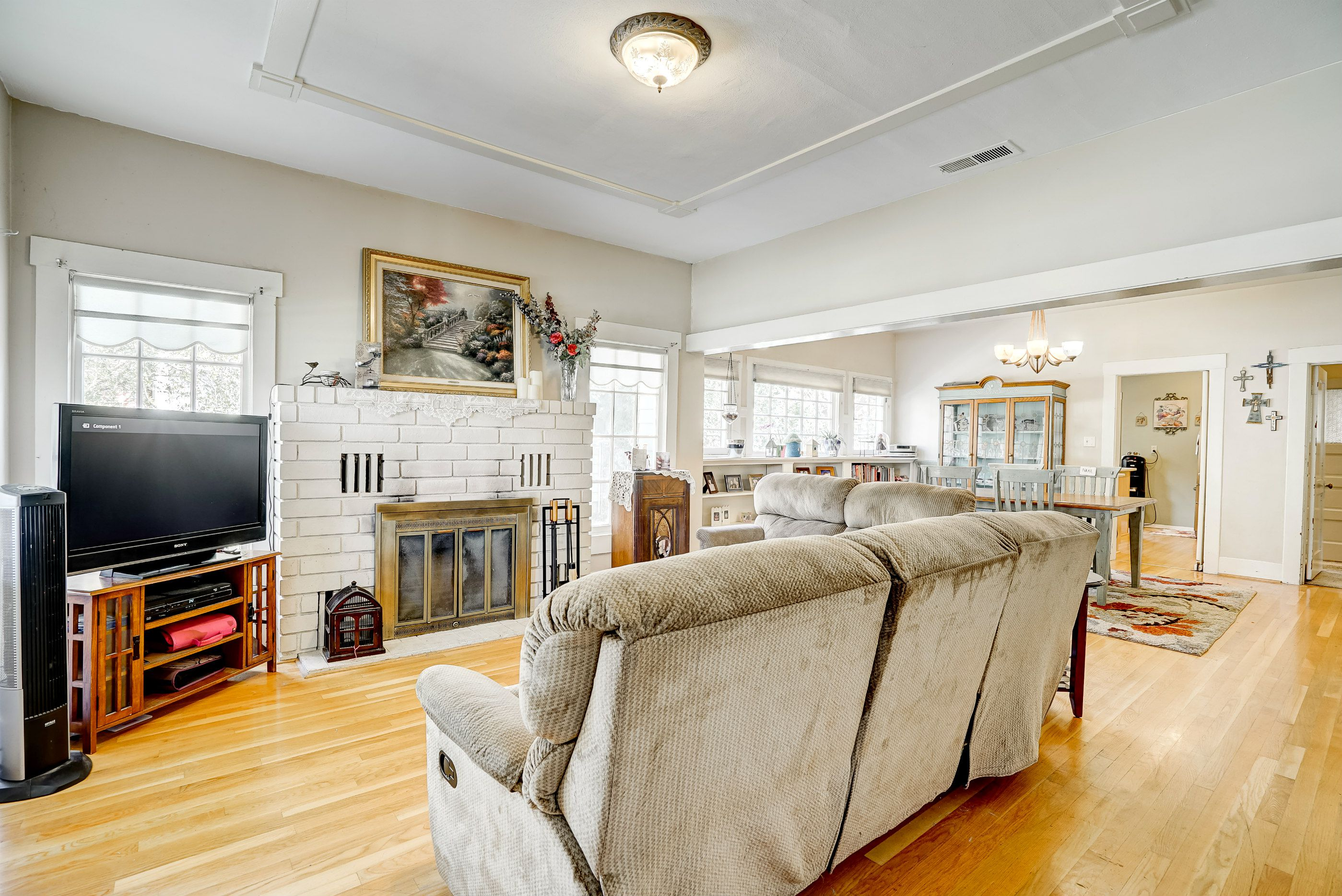 View of open floor plan upon entering the home.