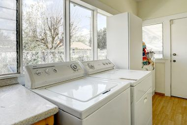 Indoor laundry room.