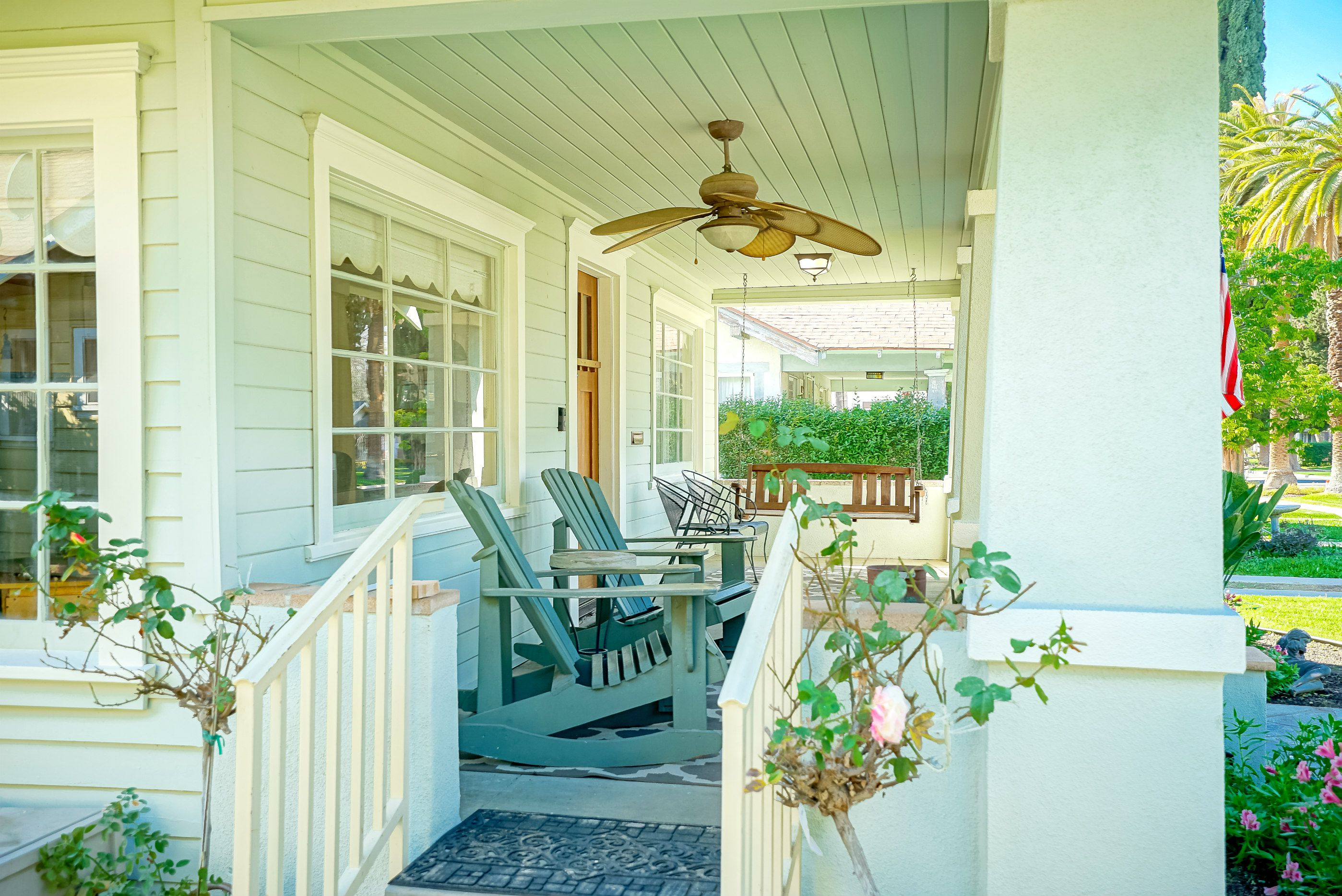 Side entrance to gorgeous front porch.