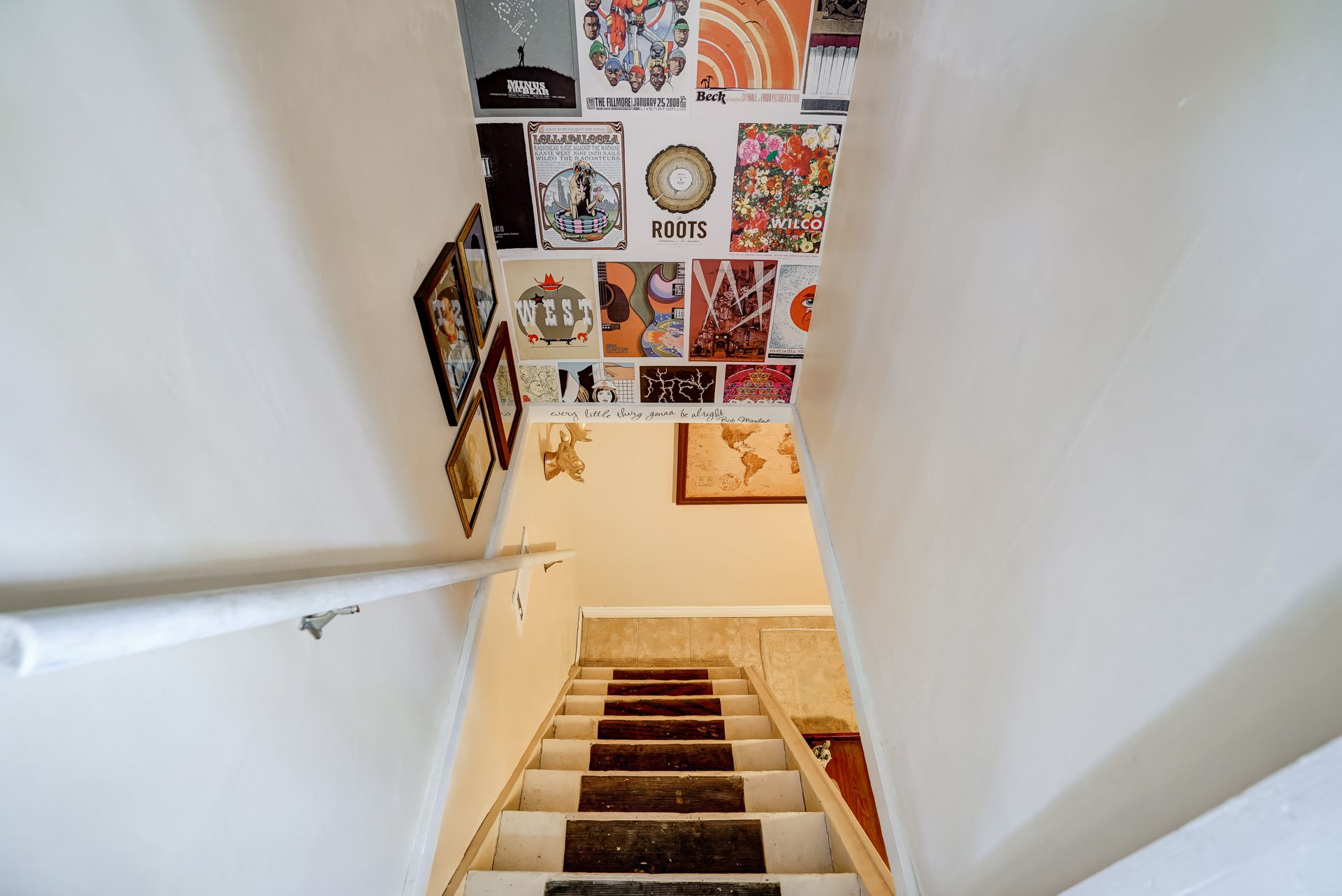 Stairs to basement from kitchen.
