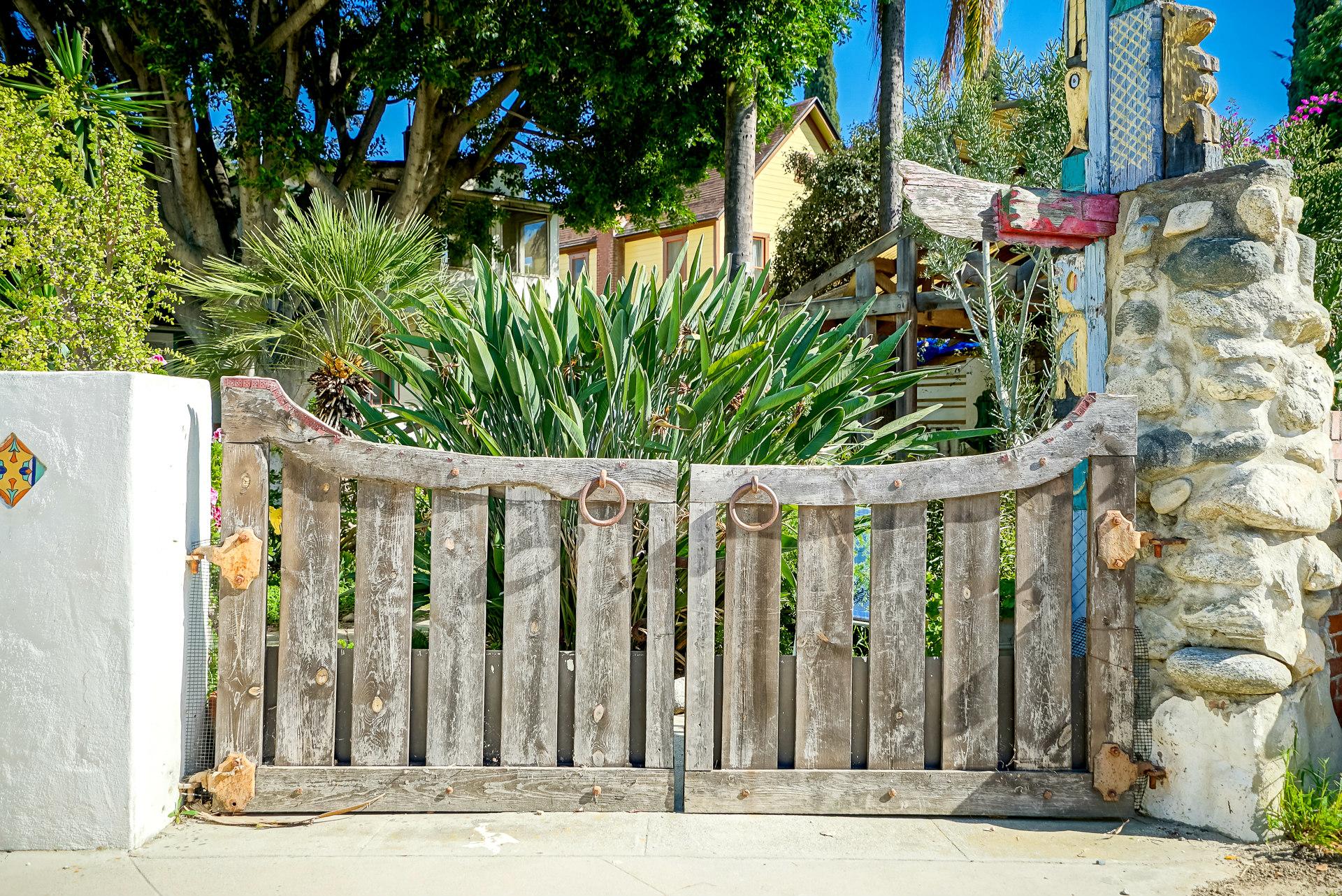 Alley gate.