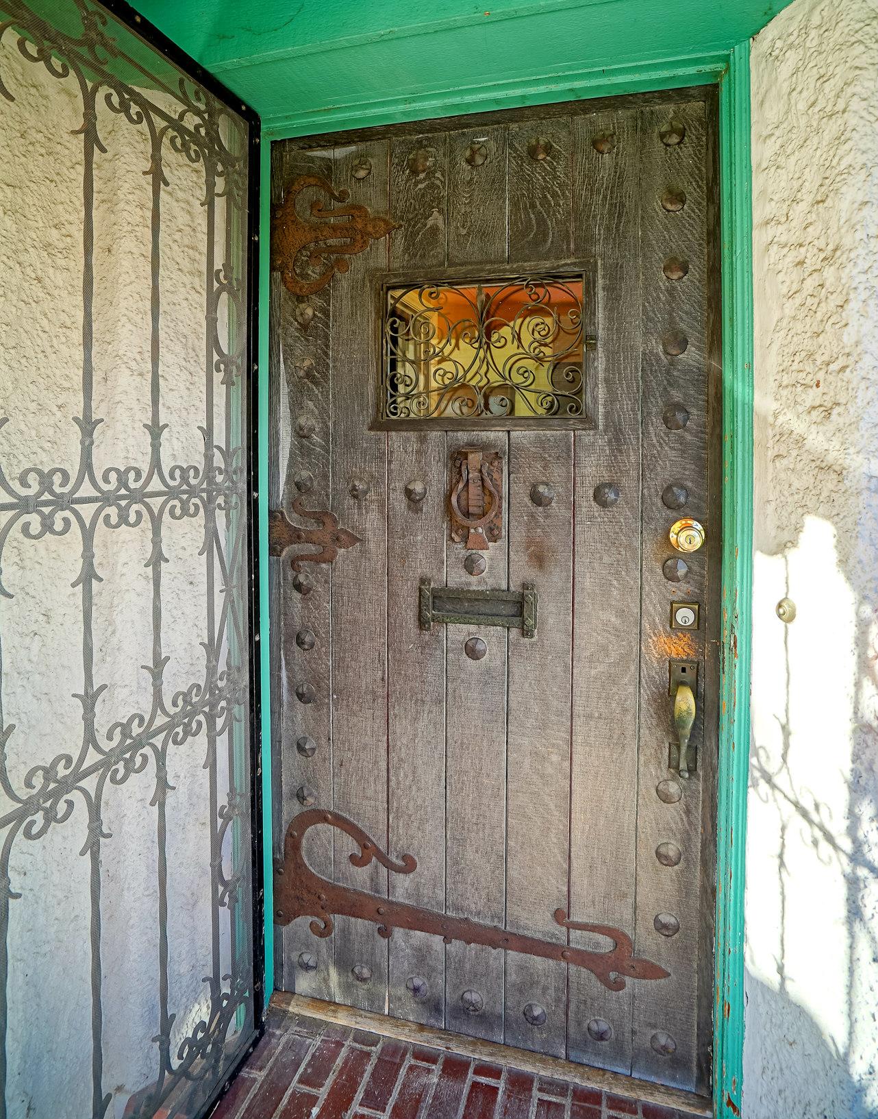 Hand-crafted 1920 front door
