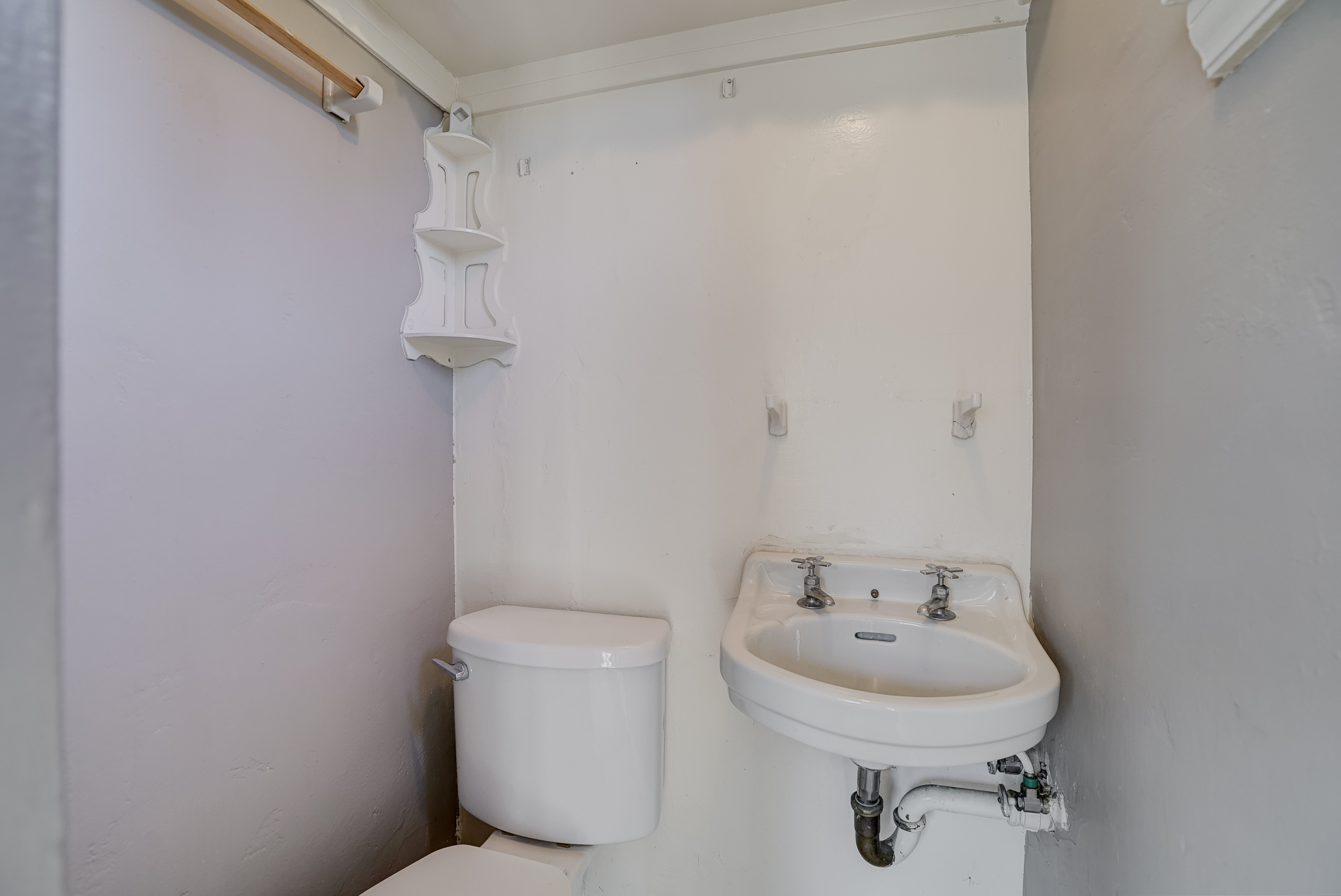 Private upstairs half bath (toilet and sink only).