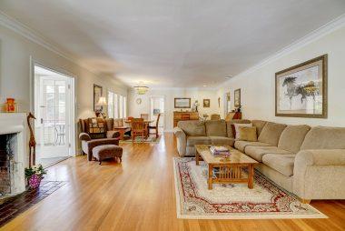 View of the open floor plan as you walk through the front door.