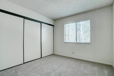 2nd bedroom with brand new carpet and huge closet space.