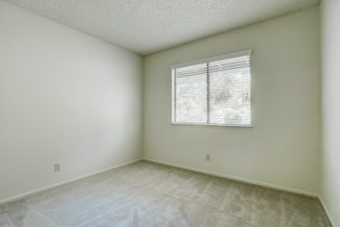 3rd bedroom with brand new carpeting, and closet out of view.