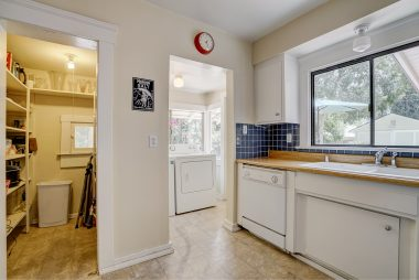 Walk-in pantry, as well as indoor laundry room.