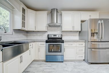Brand new stainless steel appliances, including dishwasher. Stove hasn't even been used yet. Refrigerator is negotiable.