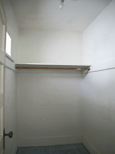 Smaller walk-in closet (big deal for a house built in 1913).