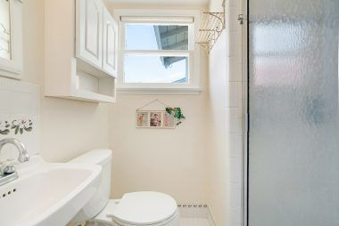 Charming remodeled bathroom attached to 3rd bedroom.