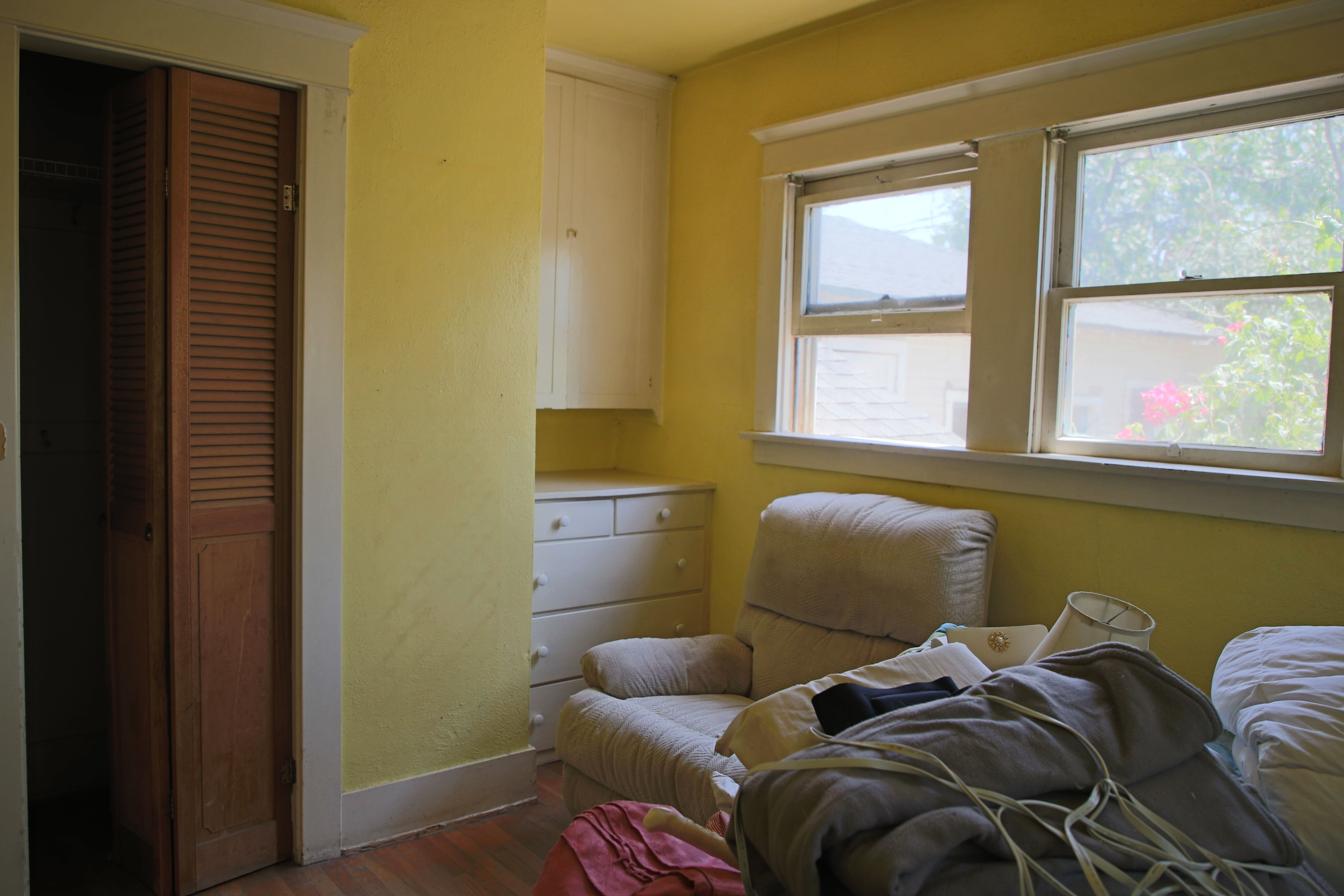 Bedroom #3 with built-in chest of drawers.