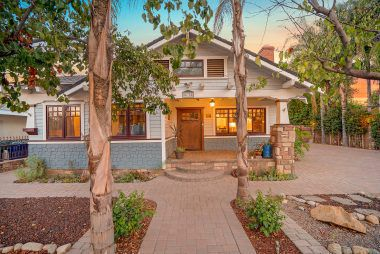 1927 California Bungalow is larger than it looks, coming it around 2,104 sq ft, with 4 bedrooms and 2.5 bathrooms!