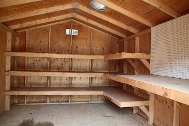 Interior of front Tuff Shed. The back Tuff Shed is identical to this.