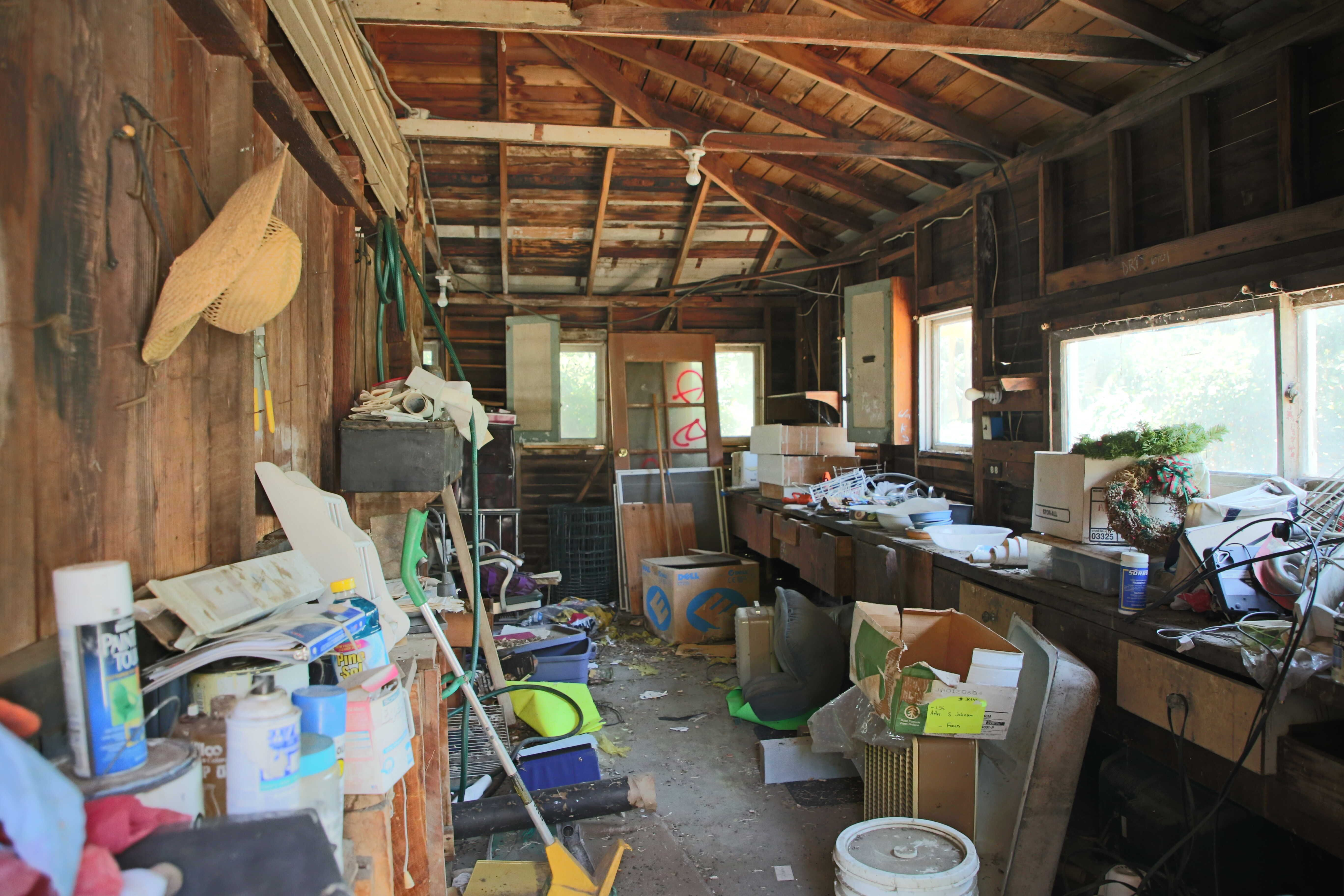 Huge additional storage area in garage.