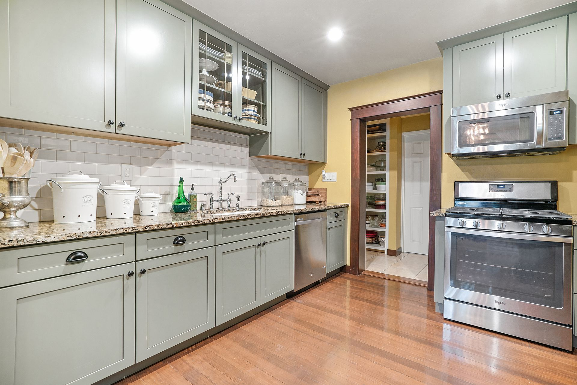 Completely Remodeled Kitchen With Re Leveled Flooring And Copper Plumbing View Into The Hallway Wherein If You Turn Right Ll Reach Large Walk In