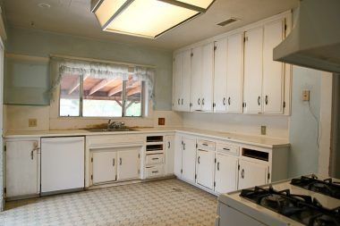 Great kitchen space in need of remodel.