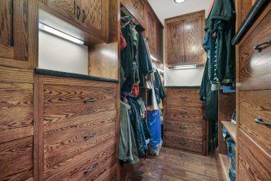 Custom walk-in closet.