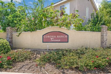 Gorgeous Corona Ranch Terrace community in Corona, nearby the 91 and 15 Freeways for commuters. Association is only $77/month. Newly refurbished tot lot, and lovely walking paths throughout.