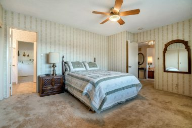 First of two large master bedrooms, with large closet and attached bathroom.