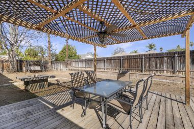 The backyard is a blank slate....room for pool, garden area(s), and larger patio if desired.