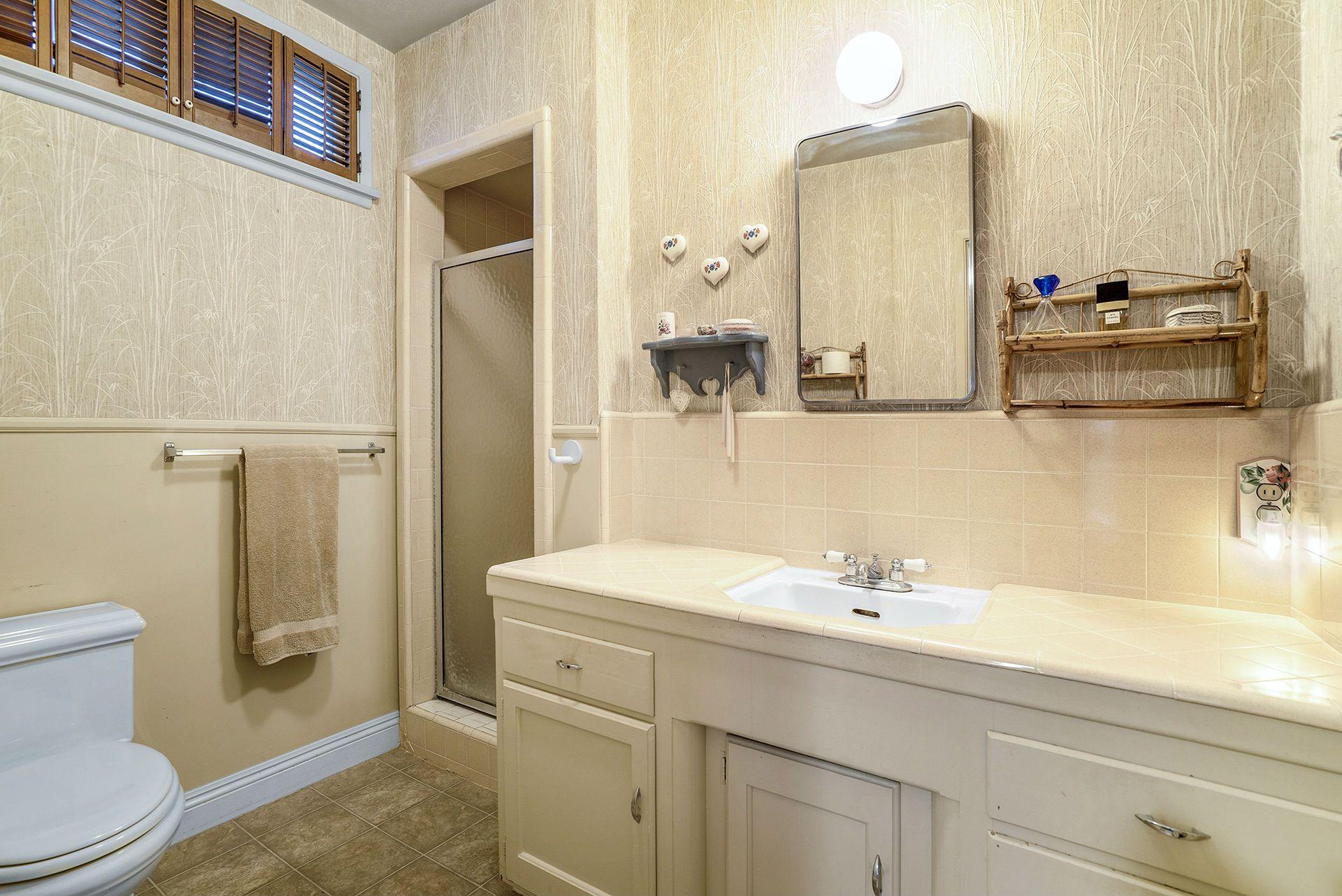 Master bathroom with shower (no tub).