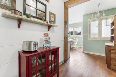 More kitchen space that leads to the informal dining area and laundry room.