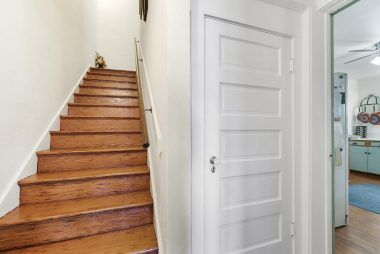 There are actually two stairwells to the second floor, but only the front stairwell was photographed.