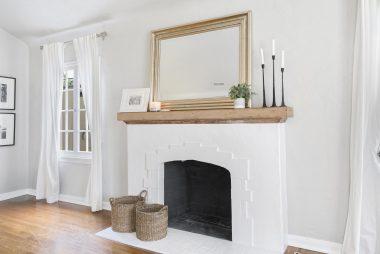 Original wood-burning fireplace.