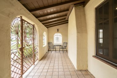 Another view of the front porch, with room for furniture and Al fresco dining.