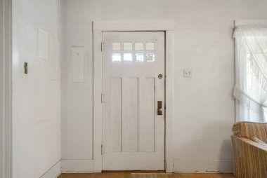 Original front door and hardware.