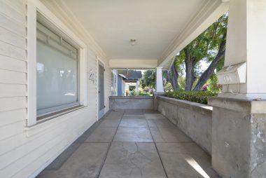Amazingly spacious front porch.