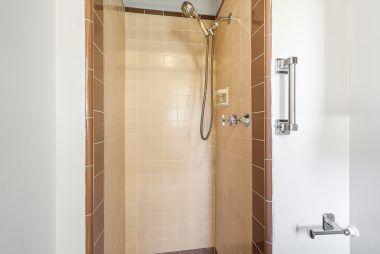 Vintage master bathroom #2 with shower only (no tub).