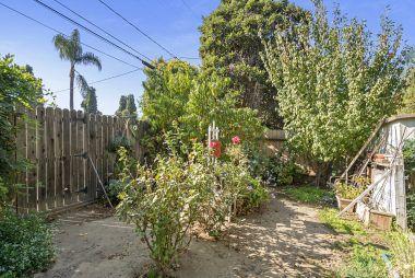 Fenced garden area.