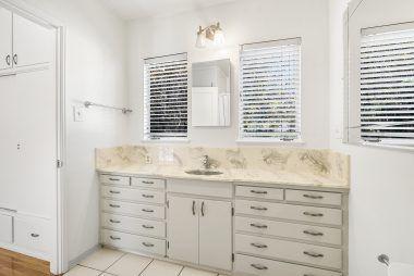 Lots of natural light in master bathroom #1.