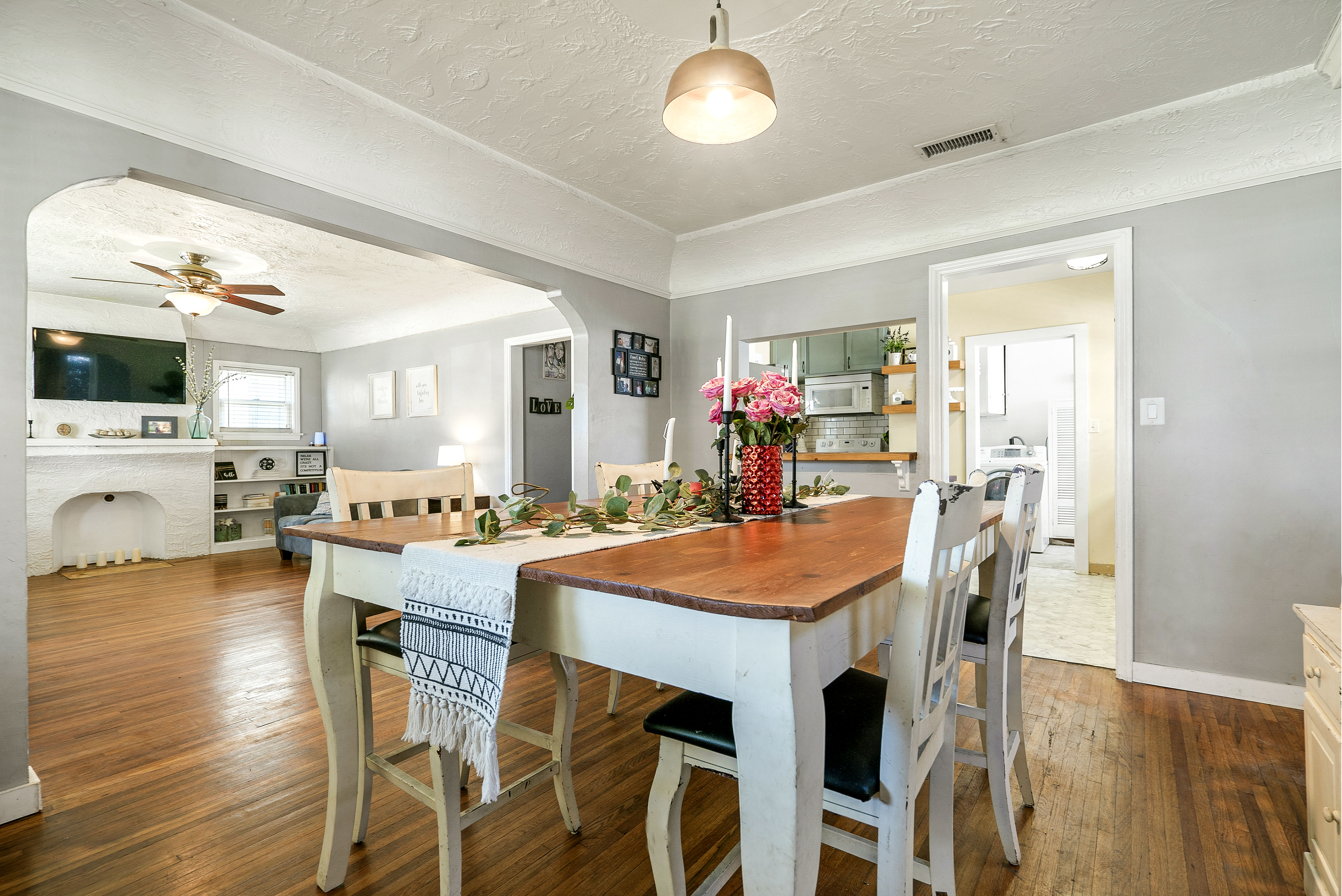 Spacious formal dining room overlooking the living room and kitchen.
