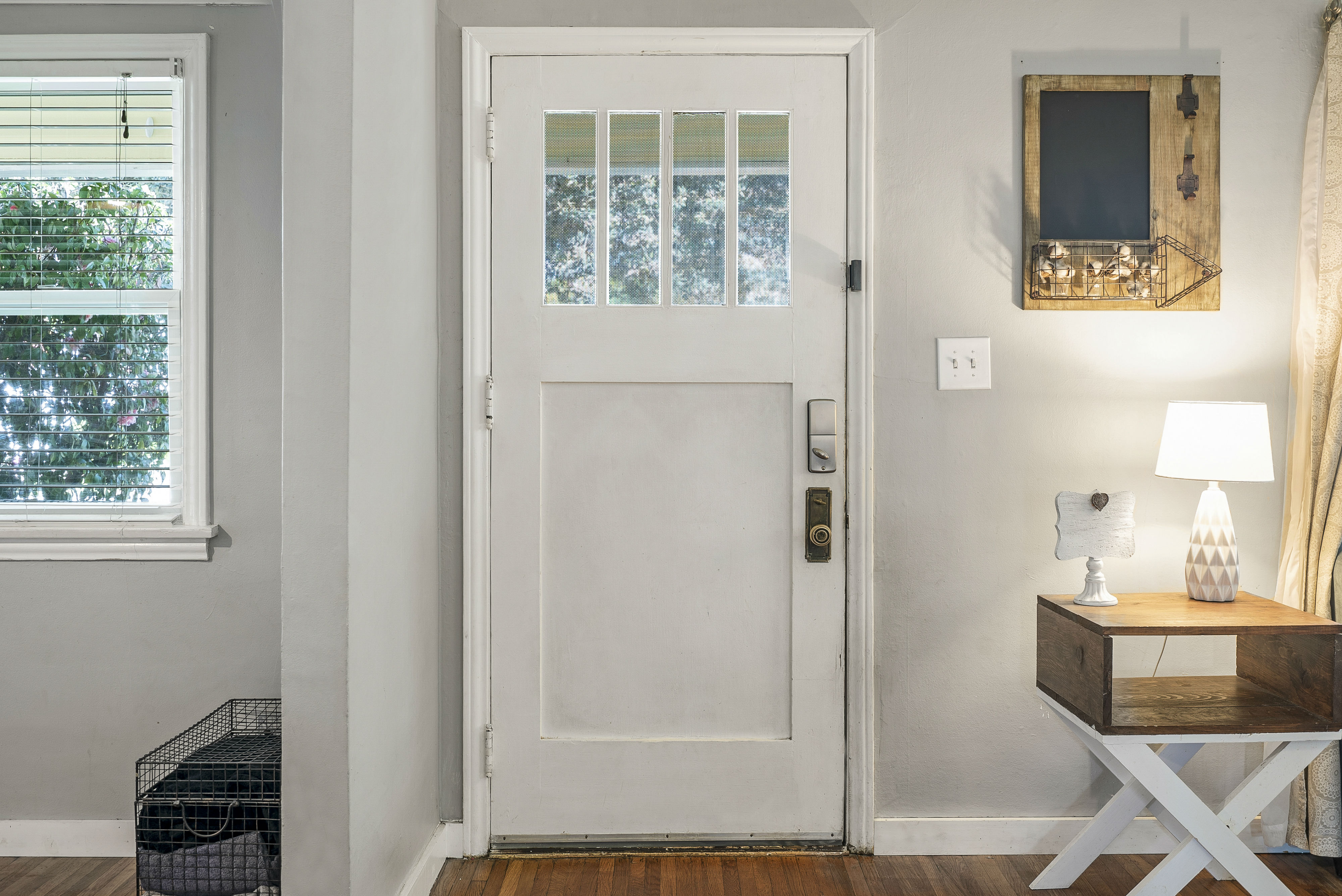 Original wood front door