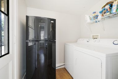 GUEST HOUSE refrigerator and washer/dryer are included.