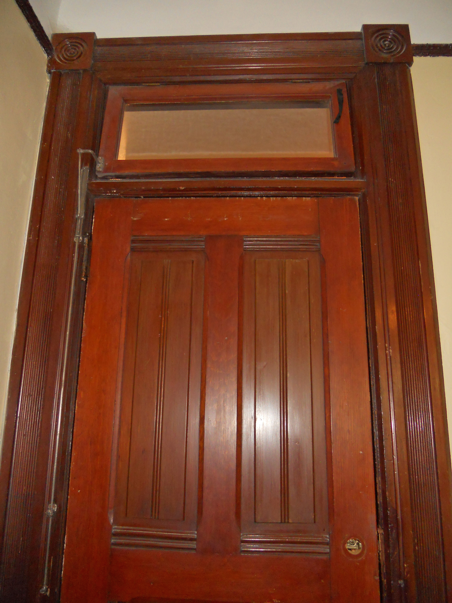 Transom Windows Above Upstairs Bedroom Doors With Working Hardware