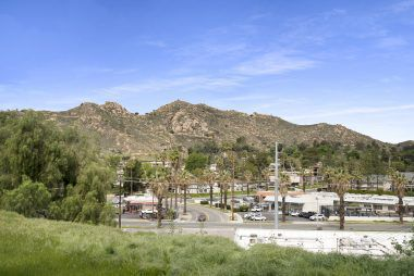 View of magnificent Mount Rubidoux from the front yard. Amazing bike and hiking trails, as well as Bonaminio Park for baseball, basketball, gardening, and walking.