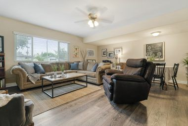 Spacious family room off the kitchen. Great place for family and friends to gather.